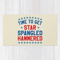 Time to Get Star Spangled Hammered - Fourth of July / 4th of July Rug by CreativeAngel