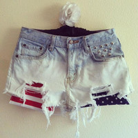 Made in Your Size American Flag ShortsMid.Rise or by marinacouture