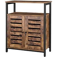 Farmhouse Multifunctional Side Cabinet Accent Table Cupboard with Shelf