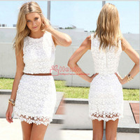 women summer dress white lace sleeveless cute casual summer dresses Vestidos roupas femininas-in Dresses from Women's Clothing & Accessories on Aliexpress.com | Alibaba Group