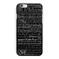 The Beatles Song Lyric iPhone 6 Plus Case