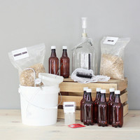 1 Gallon Beer Kit with 2 Grain Recipes / Brewery in a Box