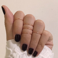 knuckle rings rings ring sets minimalist jewelry by baublesbybets