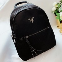 Hipgirls Prada New fashion handbag book bag backpack bag Black