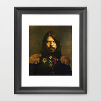 Dave Grohl - replaceface Framed Art Print by Replaceface