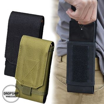 Outdoor Camouflage Bag Tactical Army Phone Holder Pack Sport Waist Belt Case Waterproof Nylon EDC Sport Pouch Hunting Camo Bags