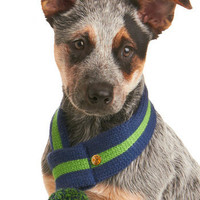 Chilled to the Bone Dog Scarf in Blue | Mod Retro Vintage Pet Accessories | ModCloth.com
