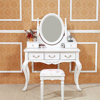 Brand New 5 DRAWERs FRENCH PROVINCIAL DRESSING TABLE with MIRROR