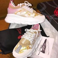 Versace Leisure thick bottom Gym shoes