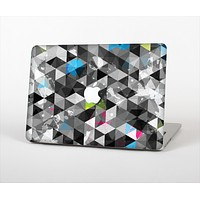 """The Modern Black & White Abstract Tiled Design with Blue Accents Skin Set for the Apple MacBook Air 11"""""""