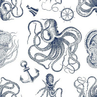 Removable Wallpaper - Vintage Nautical