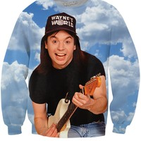 Wayne's World Wayne Campbell Crewneck Sweatshirt