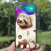 Dolla Dolla Bill Sloth Astronaut,iphone 4 case,iPhone4s case, iphone 5 case,iphone 5c case,Gift,Personalized,water proof