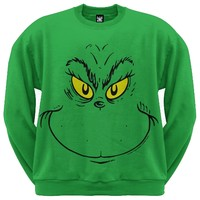 DR. SEUSS - GRINCH FACE CREW NECK SWEATSHIRT