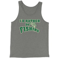 I'd Rather Be Fishing Jersey Tank Top for Men