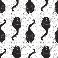 Vintage Black Cats Removable Wallpaper