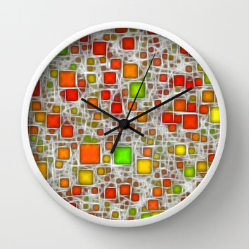 Ceramics Citrus Wall Clock by Alice Gosling