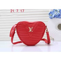LV 2019NEW WAVE HEART Handbags Love Crossbody Shoulder Bag Waist Bag Red
