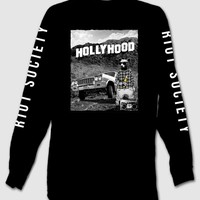 Hollyhood Mens Long Sleeve T-Shirt