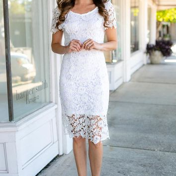 Don't Forget It Open Back Lace Dress
