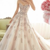 Strapless Misty Tulle Ballgown by Sophia Tolli