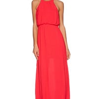 Bella Luxx Column Tank Dress in Red
