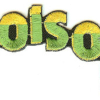 Poison Iron-On Patch Yellow And Green Logo