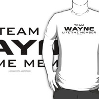 Team Wayne Lifetime Member by Albany Retro