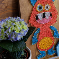 Cute monster wall decoration