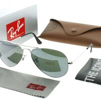Cheap Ray Ban RB 3025 W3277 Silver RB3025 Aviator Sunglasses outlet
