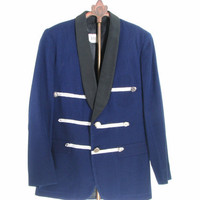 Mens 50s Marching Band Jacket Blue Retro Small