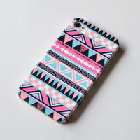iphone 5 case - Tribal Aztec Geometric with wood iphone 4 case  iphone 4s case , iphone cover , Hard Plastic Case