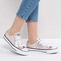 Converse Chuck Taylor All Star Metallic Canvas Trainers In Rose at asos.com