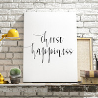 """printable art""""choose happiness""""be happy stay happy motivational quotes quote brushes art home and living best words apartment decor wall art"""