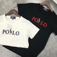 """Polo"" Summer Unisex Casual Logo Embroidery Short Sleeve T-Shirt Top I-XMCP-YC"