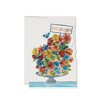 Flower Cake Birthday Foil Card
