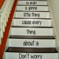 Dont Worry Bob Marley Stairs Stairs Decal Sticker Wall Vinyl Art Home Family