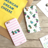 Lovely cactus Phone Case Cover for Apple iPhone 7 7 Plus 5S 5 SE 6 6S 6 Plus 6S Plus + Nice gift box! LJ160914-001