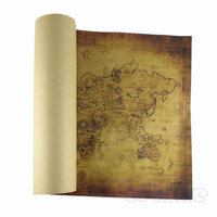 The World Map Vintage Style Retro Home Decor Paper Poster Wall Decor