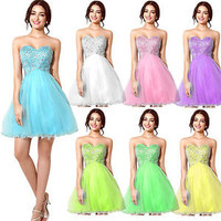 Women Short Prom Homecoming Dresses Wedding Party Cocktail Formal Gown Plus Size