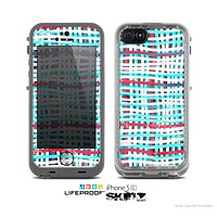 The Woven Trendy Green & Coral Skin for the Apple iPhone 5c LifeProof Case