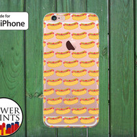 Hotdog Pattern Funny Food Weiners Hot Dog Clear Rubber Phone Case for iPhone 5/5s and 5c and iPhone 6 and 6 Plus + and iPhone 6s