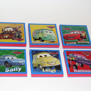 Disney Cars Note Pads Set of 6 - Excellent Party Favors - Mater Sally Lightning McQueen