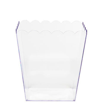 Clear Plastic Popcorn Style Candy Container - Small
