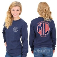 Long Sleeve Stars and Seersucker 'Merica Promo Tee | Marley Lilly