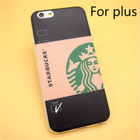 Fashion Starbuck Coffee TPU Slim Back Skin Ultra Thin Soft Phone Case Shell For iPhone 6 Plus/6s Plus