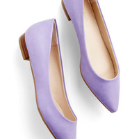 ModCloth Pastel Follow the Arrow Flat in Lavender