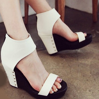 White Vintage 2016 new fashion elegant high heel Sandals for summer graduation ball party  = 4777254788