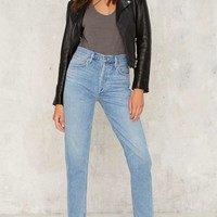 A Gold E Jamie High Rise Jeans - Light Blue