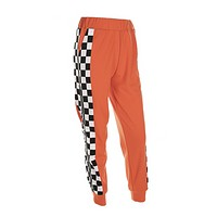 The Zip Checkered Jogger